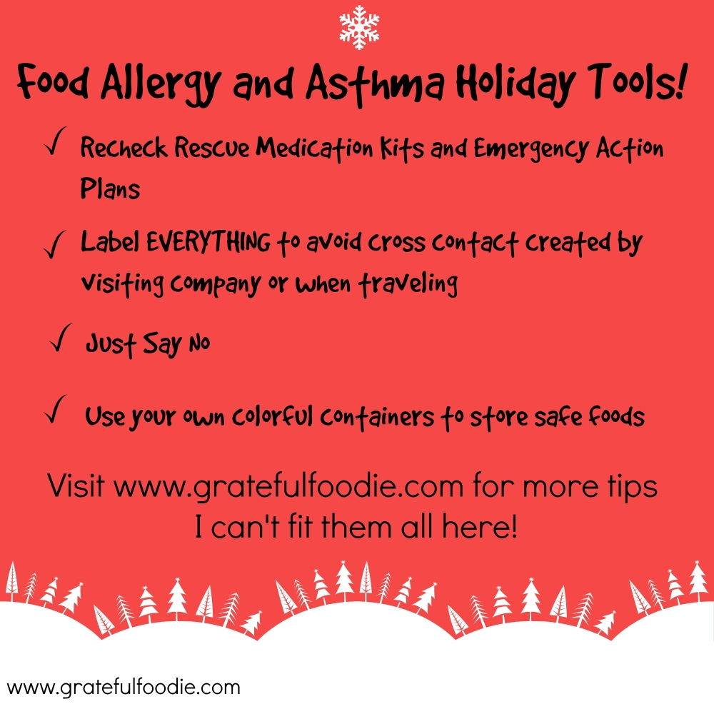 food allegy and asthma holiday tools