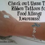 Teal Ribbon food allergy tat